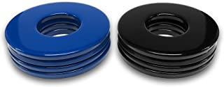 4 Blue/4 Black Powder Coated Replacement 2-1/2 Washer Toss Pitching Game Washers - High Gloss!