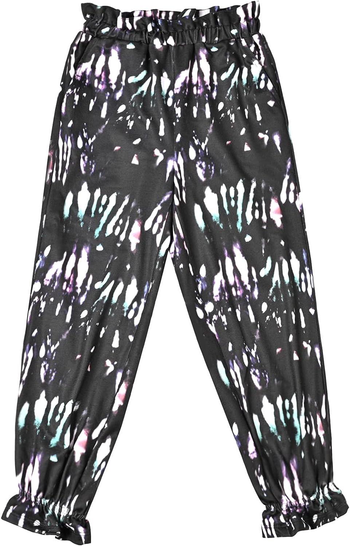 Girl's Tie Die Sweatpants Elastic Waist Joggers with Pockets Winter Athletic Pants 4-12Y