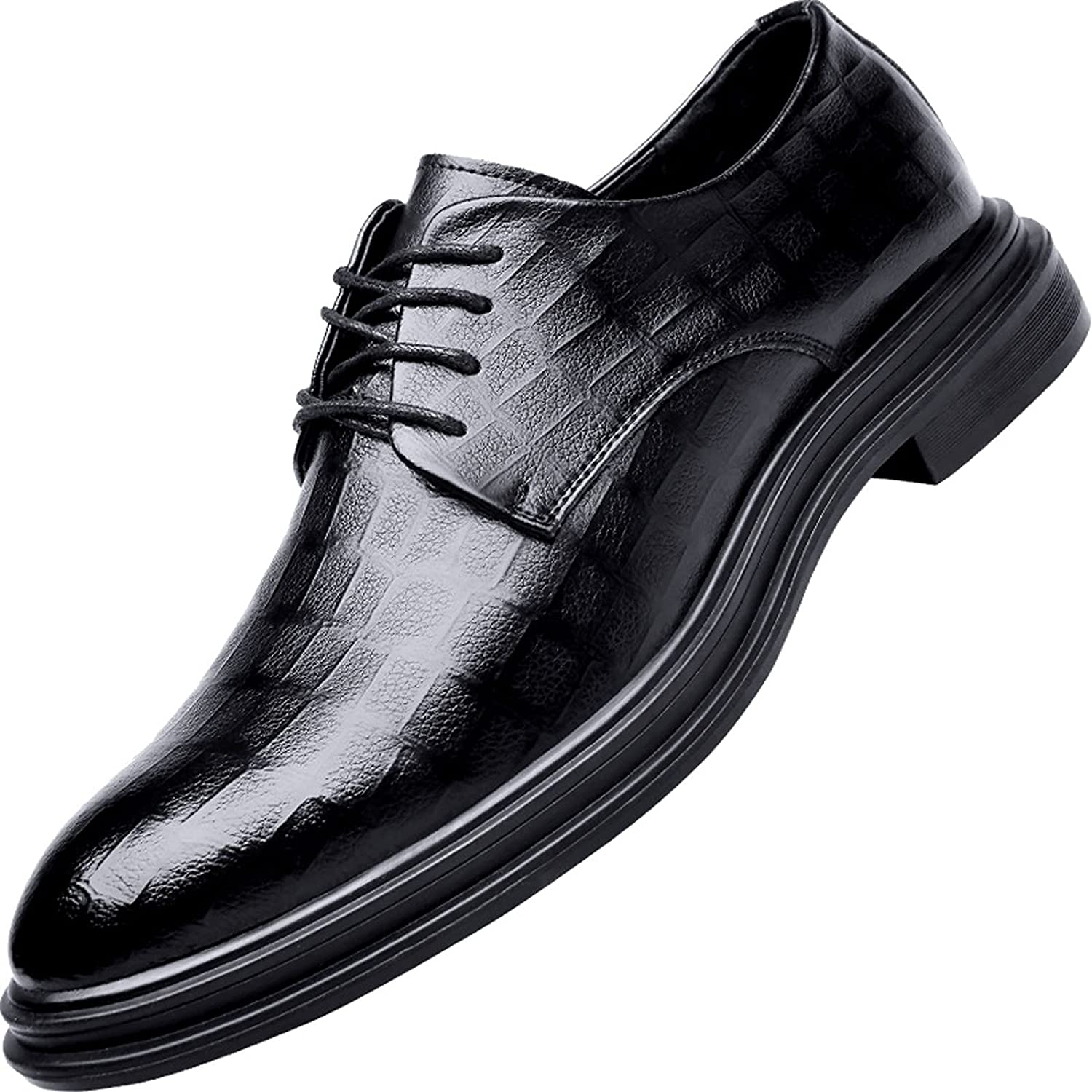 juyouqian Oxford Shoes Breathable Comfy Mens Italy Shoes Casual Party Shoes for Men Black