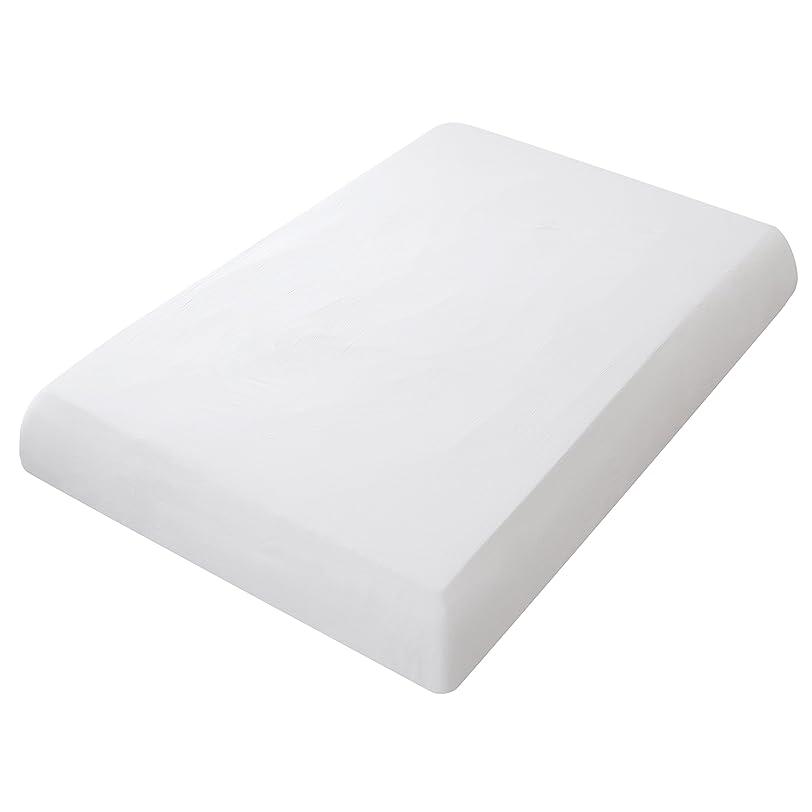 巧みな木海里オーガニックコットン洗いざらしの綿100% ボックスシーツ クイーンサイズ ホワイト