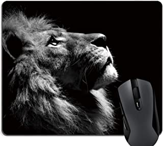 Brain114 Customized Mouse Pad Oblong Thingking Lion Personalized Mousepad Non-Slip Gaming Mouse Pads