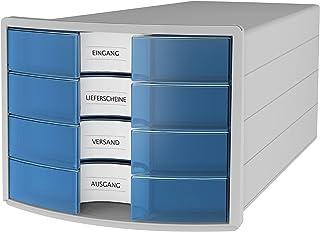 HAN IMPULS A4/C4 Boîte de rangement à 4 tiroirs fermés Gris/translucide