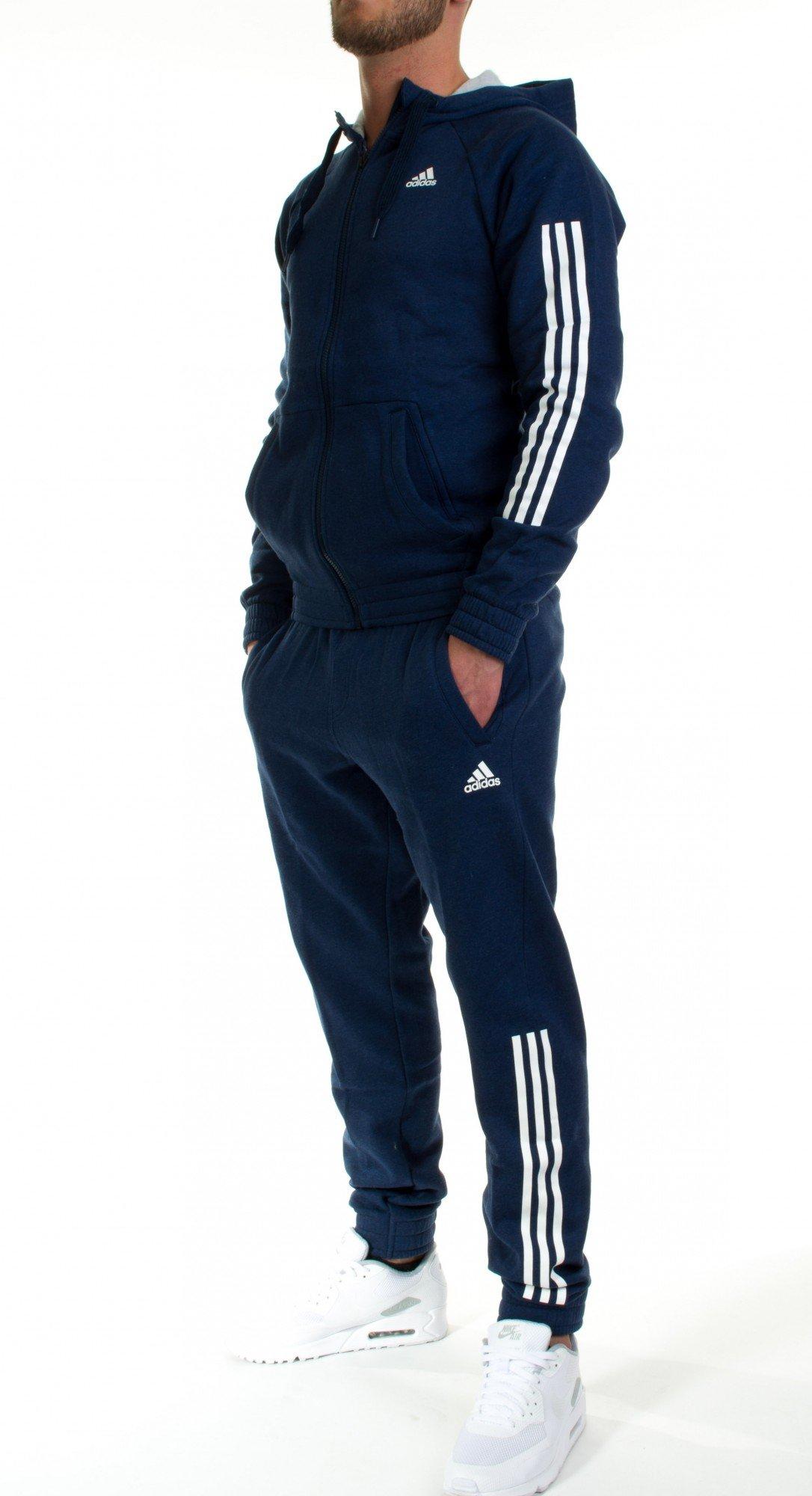 adidas Hooded Jogger Track Suit – Chándal para Hombre Azul Modelo ...