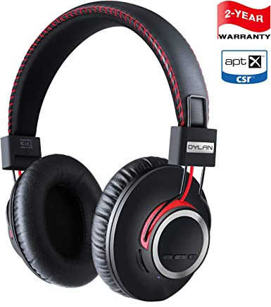 Bluetooth Headphones Wireless Over Ear Headset - High End CSR8645 Chip Apt-X Lossless Hi-Fi Stereo, Handmade Style Extra Comfortable and Lightweight, Deep Bass Headset with Mic, Unique Christmas Gifts