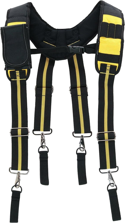 Alsenin Men's Work Suspenders with Pocket & Swivel Hooks & Tool Belt Loops