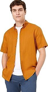 Marks & Spencer Men's S/S Linen Cotton Shirt
