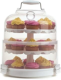 portable cupcake display case