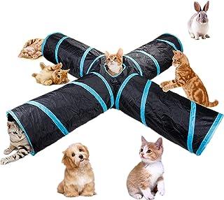 Beststar 4-Wege-Katzentunnel, groß, für den Innen- und Außenbereich, zusammenklappbar, mit Aufbewahrungstasche für Katzen, Hunde, Welpen, Kätzchen, Kaninchen