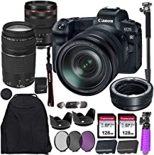 Canon EOS R Mirrorless Digital Camera with RF 24-105mm USM & EF 75-300mm III Lens Bundle Including Mount Adapter & Valued ...
