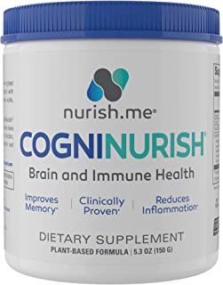 CogniNurish - Brain Support and Immune System Booster – Natural Brain Supplement for Memory and Focus – Powerful, Scientif...