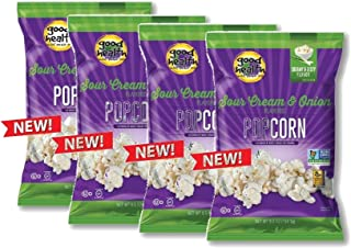 Good Health Sour Cream & Onion or Sweet & Salty Popcorn- Certified Non GMO and Gluten Free (Sour Cream & Onion)