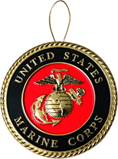 Allied Products Marine Corps Heroes Series Holiday Ornament - Officially Licensed Marine Corps Medallion - Die-cast Metal and Gold Plating