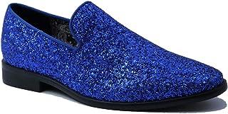 Stylish & Comfort Shoes Men's Slip-On Sparkling Glitter Loafer Dress Shoes