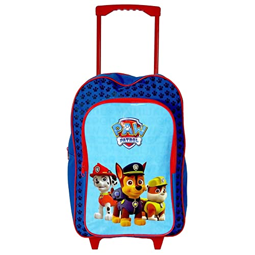 983cb4b60f2 Paw Patrol 'Squad' Boys Trolley Backpack School Travel Roller Wheeled Bag
