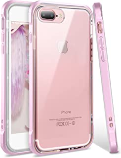 iPhone 8 Plus Case, iPhone 7 Plus Case, Ansiwee Shockproof Armor iPhone 7 Plus Protective Defender Impact Resistant Slim Fit Rubber Bumper Case Cover for Apple iPhone 7/8 Plus 5.5 inch (Light Purple)