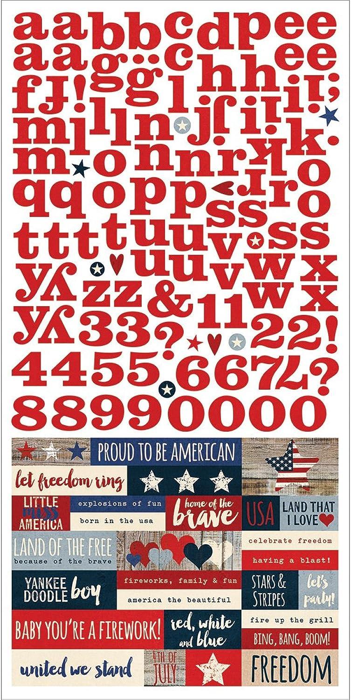 Einfach Sets Stars und Stripes Karton Aufkleber, 15,2 x 30,5 cm Expressions B00YNMSH92 | Sehr gelobt und vom Publikum der Verbraucher geschätzt