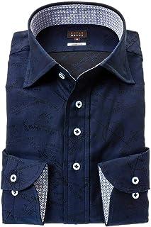 ドレスシャツ ワイシャツ カッターシャツ シャツ STYLE WORKS(スタイルワークス 長袖 綿:100% ワイドカラー ワイドカラー メンズ 柄シャツ 派手シャツ|RWD122-152