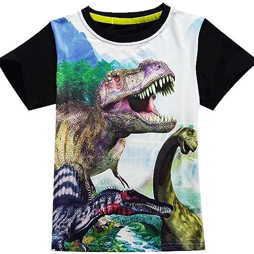 5af142dc Boys Shirts Toddler T-Rex Short Sleeve T-Shirts, Dinosaur Tops Tee Shirt