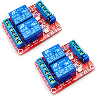 HiLetgo 2pcs DC 12V 2 Channel Relay Module with Isolated Optocoupler High and Low Level H/L Level Trigger Module Triggered...