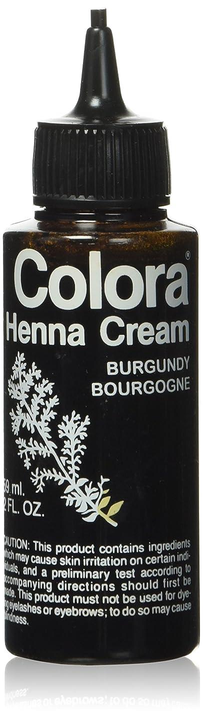 ペルセウス第五宣伝Colora ヘナクリーム、バーガンディ、2オンス 2オンス
