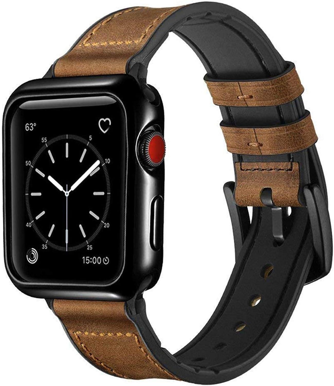 Speidel 42mm Light Brown Luxury watchband overseas gift with Black AdaptersBuc