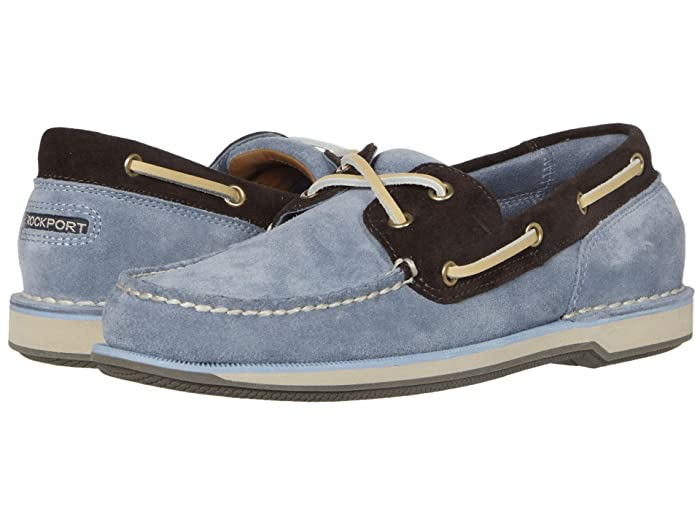 Rockport  Ports of Call Perth (Blue/Navy Suede) Mens Lace up casual Shoes