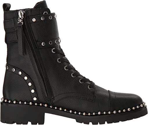 Black Heavy Cancun Tumble Leather