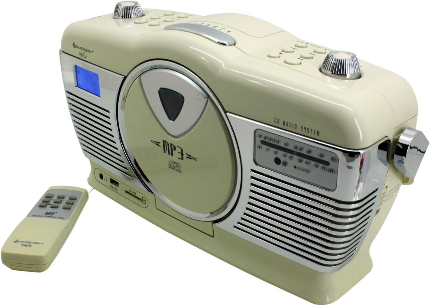 Soundmaster Rcd1350 Retro Cd Mp3 Usb Radio Beige Elektronik