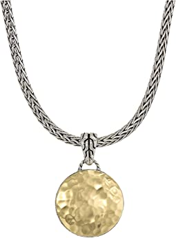 Dot Hammered Reversible Pendant Necklace