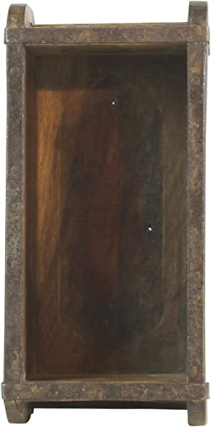 MY SWANKY HOME Vintage Wood Brick Mold Shadow Box Wall Shelf Hanging Rustic