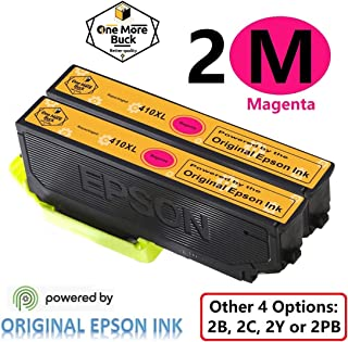 OneMoreBuck Repackaged 410XL Ink Cartridges with Original Brand Ink, Pack-2 (2 Magenta XL)