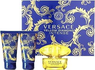Versace Yellow Diamond Intense Gift Set 1.7oz (50ml) EDP + 1.7oz (50ml) Body Lotion + 1.7oz (50ml) S