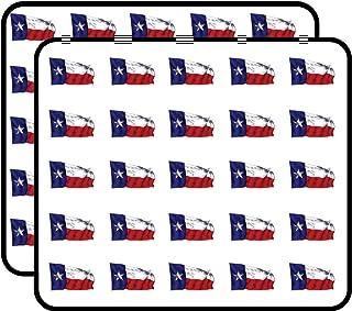 Texas Flag Waving Sticker for Scrapbooking, Calendars, Arts, Kids DIY Crafts, Album, Bullet Journals 50 Pack