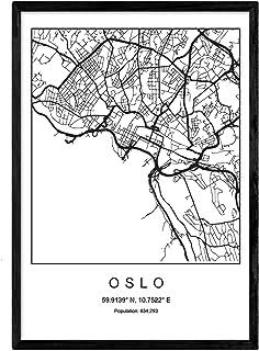 Cartina Della Norvegia Da Stampare.Amazon It Cartina Geografica Norvegia