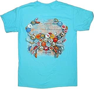 | Natty BOH Bottle Cap Crab Shirt in Lagoon Blue
