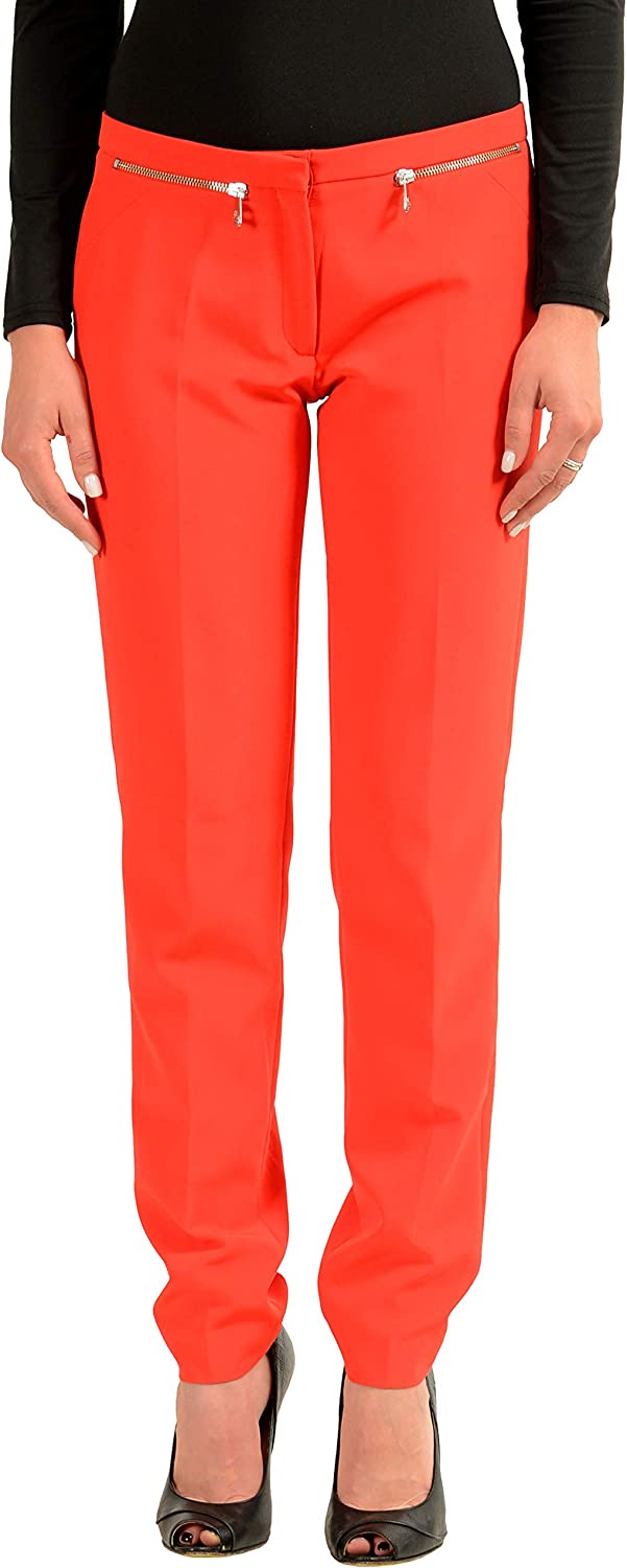 Versace Collection Red Women's Casual Pants US 6 IT 42