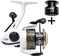 LONPAR Spinning Fishing Reel Double Roller Bearing 9+1 BB Lightweight Smooth Drag up to 33 Lbs Two Spools Included Selectable Anti-Reverse Right/Left Handle Fishing Reel for Saltwater or Freshwater