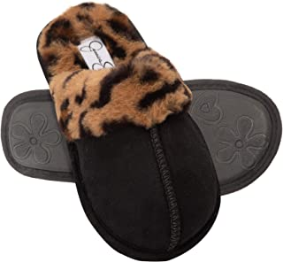 Girls Comfy Slippers - Cute Faux Fur Slip-on Shoes Memory...