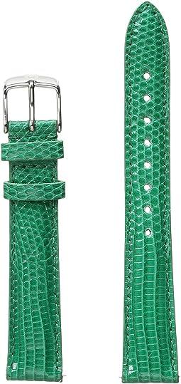 Michele - 16mm Garden Lizard Strap Green