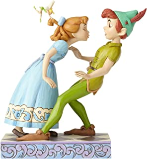 """Disney Traditions by Jim Shore 65th Anniversary Peter Pan and Wendy Stone Resin Figurine, 7.6"""", Multicolor"""