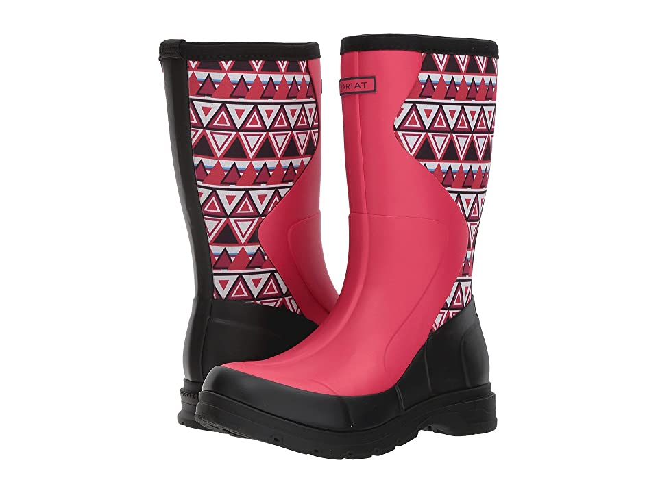 Ariat Springfield Rubber Boot (Hot Pink/Aztec Print) Women