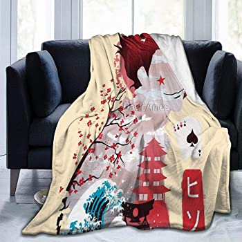 Fleece Flannel Bed Blanket Hunter X Hunter Microfiber Air Conditioning Quilt Sofa Couch Car Chair Living Room Bedroom Quilt 50X40Blanket for Kids
