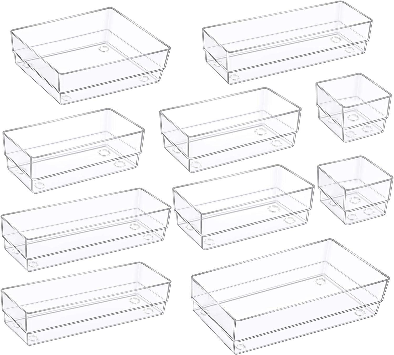 Kootek Modular Desk Drawer Virginia Beach Mall Organizer D with Bins Different Sizes Nashville-Davidson Mall