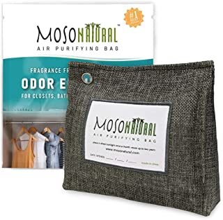 MOSO NATURAL: The Original Air Purifying Bag. 300g Stand Up Design. for Closets, Bathrooms, Pet Areas. an Unscented, Chemi...