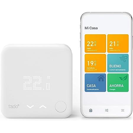 tado° Termostato Inteligente Cableado Kit de Inicio V3+ – Control inteligente de calefacción, Instálalo tú mismo, Designed in Germany, trabaja con Alexa, Siri & Asistente de Google