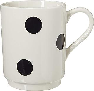KATE SPADE Deco Dot Mug, 0.75 LB, White