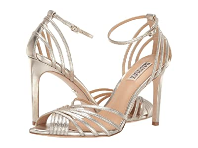 Badgley Mischka Andi (Platino Metallic Nappa) High Heels