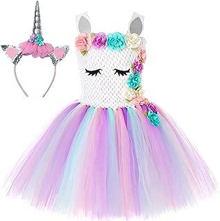 Unicorn Tutu Dress for Girls Kids Birthday Party Unicorn Costume with Headband