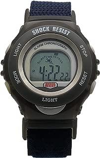 Boy's Shock Resistant Digital Watch - Back Light, Alarm & Chronograph Features with Adjustable Nylon Wrist Strap