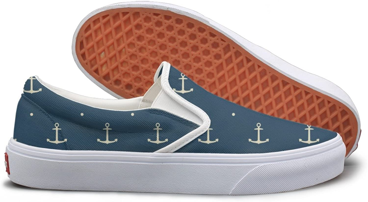 SEERTED Dark bluee Boat Anchor School Sneakers for Girls